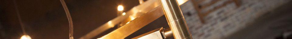 Mise en avant matière Grand lustre en laiton Izaar