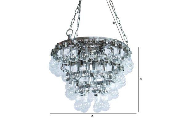 Dimensions du produit Grand lustre en verre Mille Goutes