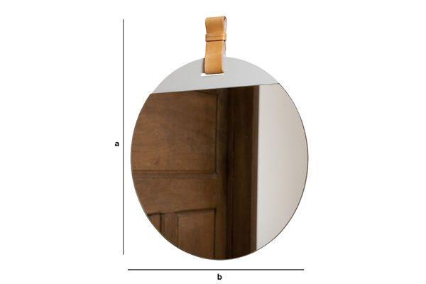 Dimensions du produit Grand miroir d'entrée à sangle