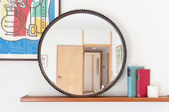 Grand miroir rond Nathan