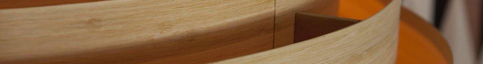 Mise en avant matière Grand plafonnier Bamboo