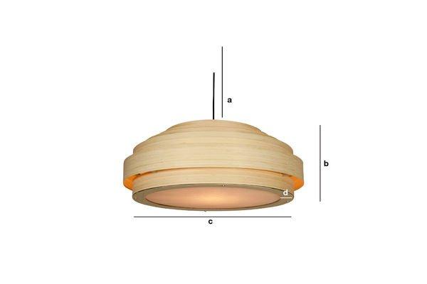 Dimensions du produit Grand plafonnier Bamboo