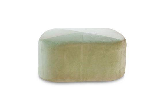 Grand pouf en velours vert Skagen Détouré