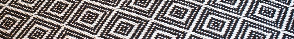 Mise en avant matière Grand pouf noir et blanc Cabourg