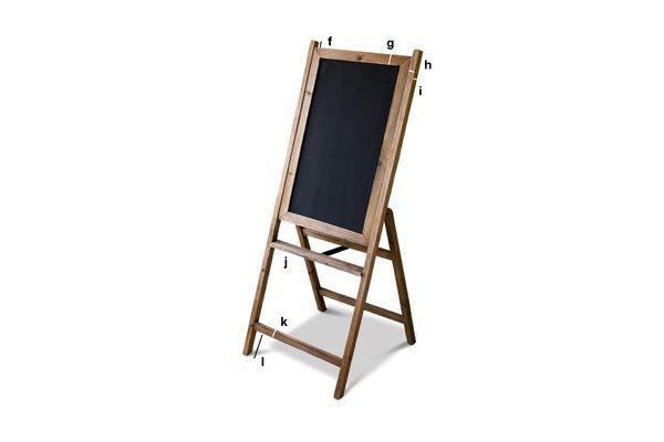 Dimensions du produit Grand tableau noir en bois Léon