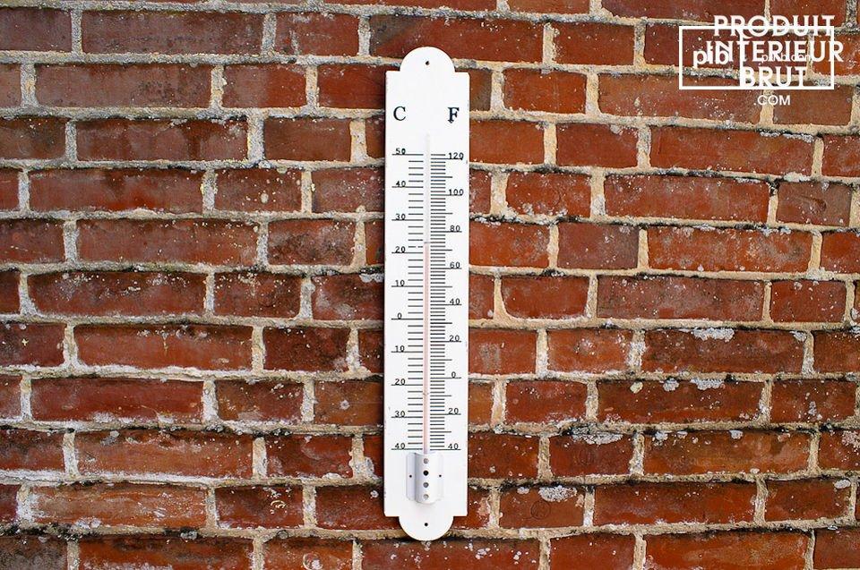 Grand thermomètre mural