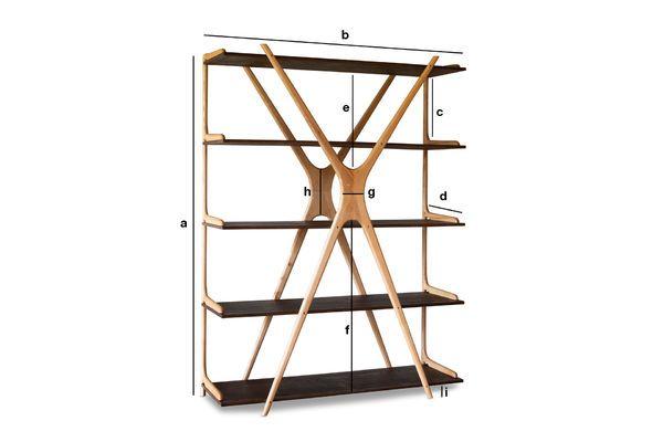 Dimensions du produit Grande bibliothèque en bois Waverly