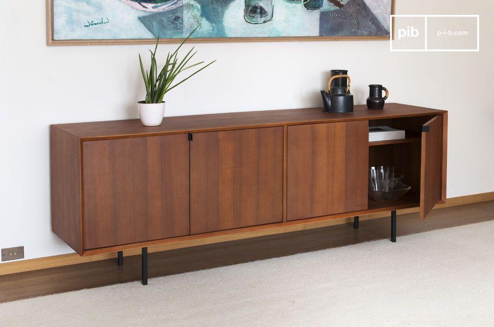 enfilade scandinave jones lignes 1950 et bois de teck pib. Black Bedroom Furniture Sets. Home Design Ideas