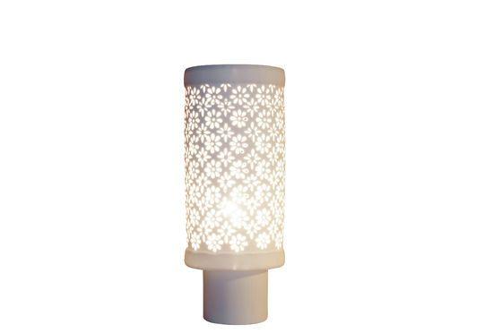 Grande lampe en porcelaine Flowers Détouré