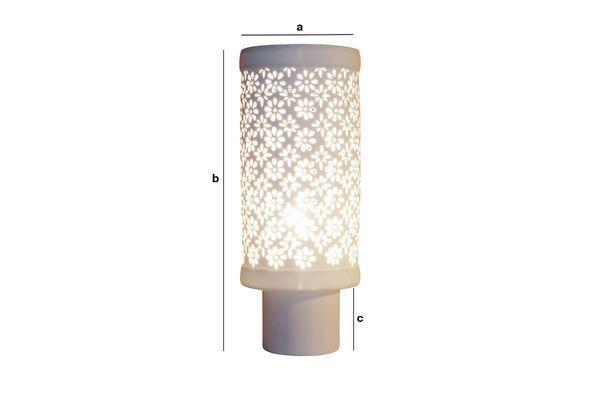 Dimensions du produit Grande lampe en porcelaine Flowers
