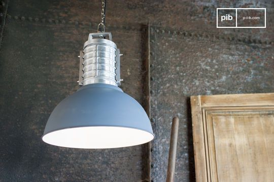 Grande suspension vintage industrielle friedler
