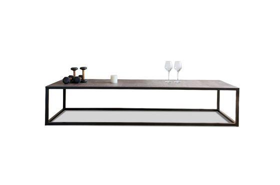 table basse en cuir rothmann style industriel atypique pib. Black Bedroom Furniture Sets. Home Design Ideas