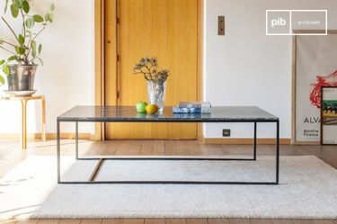 Grande table basse en marbre vert Avedore