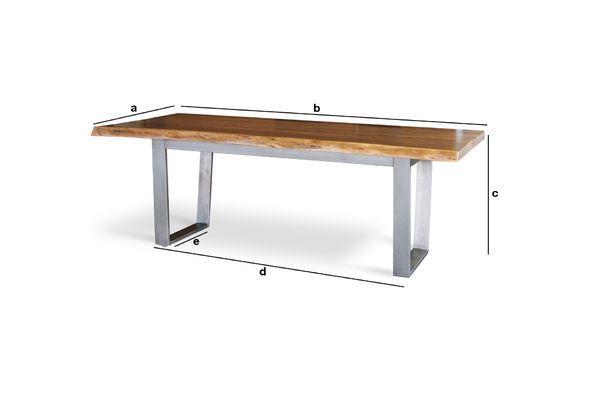 Dimensions du produit Grande table de repas Avallan