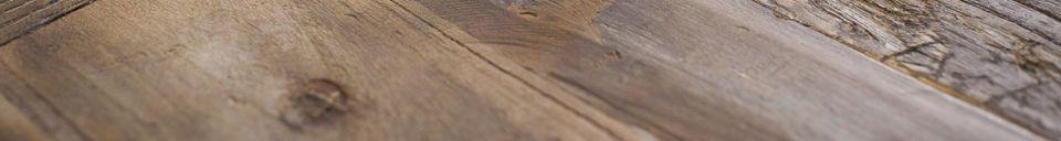 Mise en avant matière Grande table de tapissier