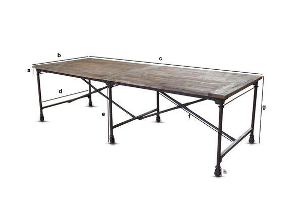 Dimensions du produit Grande table de tapissier