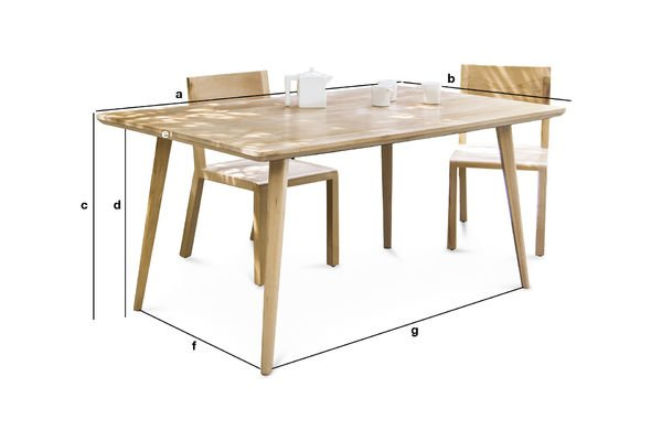 Dimensions du produit Grande Table Möka