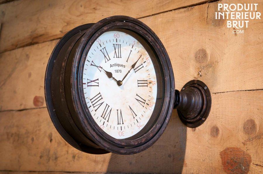 Horloge De Quai Double Face
