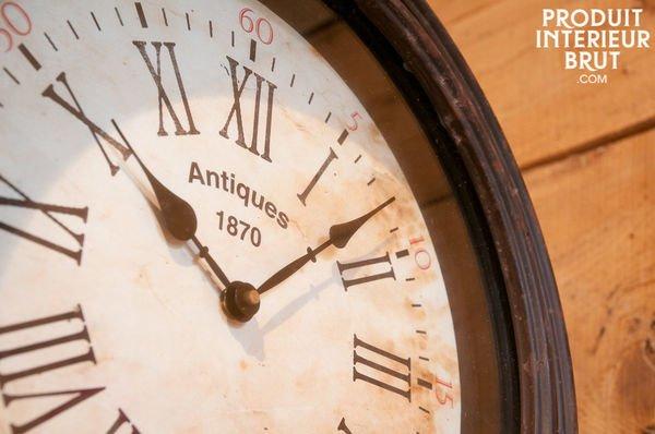 Horloge de quai vintage double face