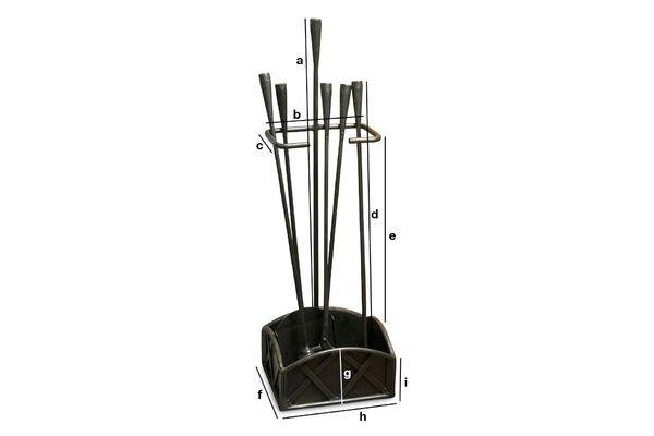 Dimensions du produit Kit outils de cheminée