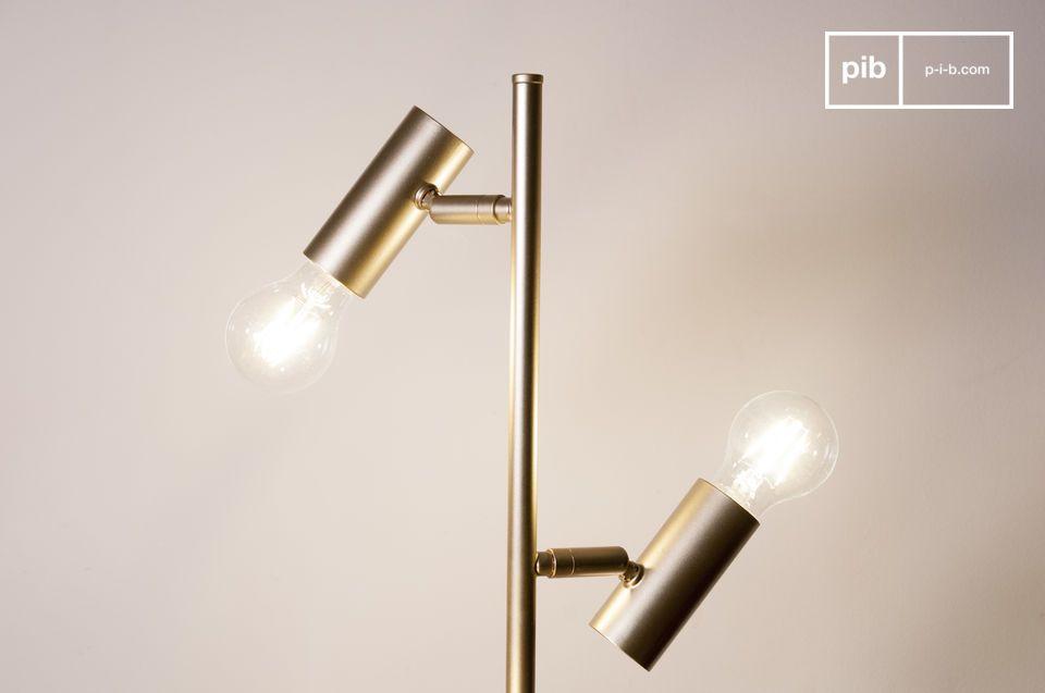 lampadaire vintage en laiton doré et marbre lubeck | pib