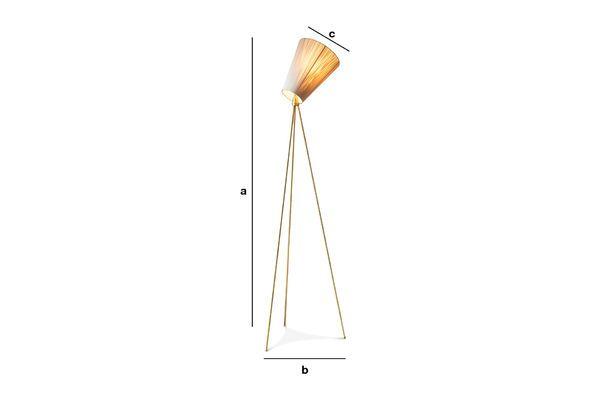 Dimensions du produit Lampadaire trépied Oslo Wood