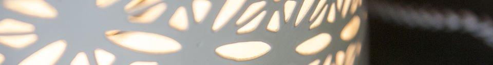 Mise en avant matière Lampe à poser Lënie