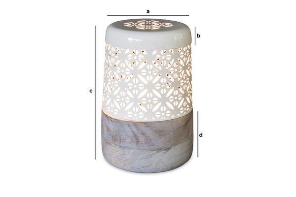 Dimensions du produit Lampe à poser Lënie