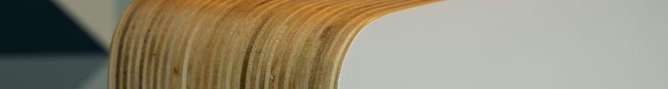 Mise en avant matière Lampe à poser Wood White