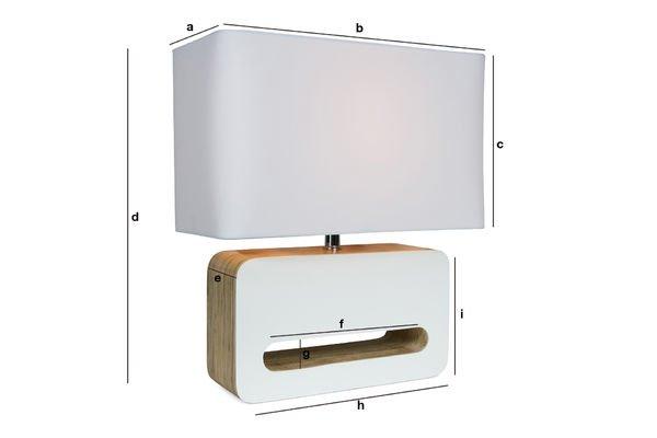 Dimensions du produit Lampe à poser Woodwite
