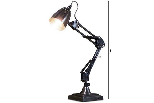 Dimensions du produit Lampe à ressorts 1957