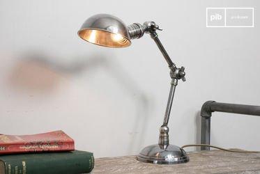 Lampe argentée double articulation