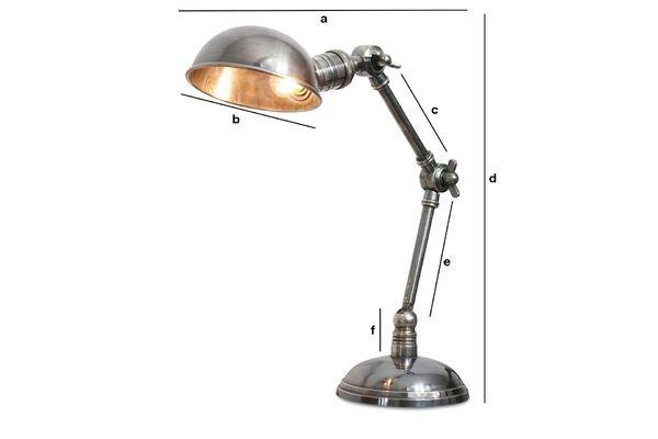 Dimensions du produit Lampe argentée double articulation