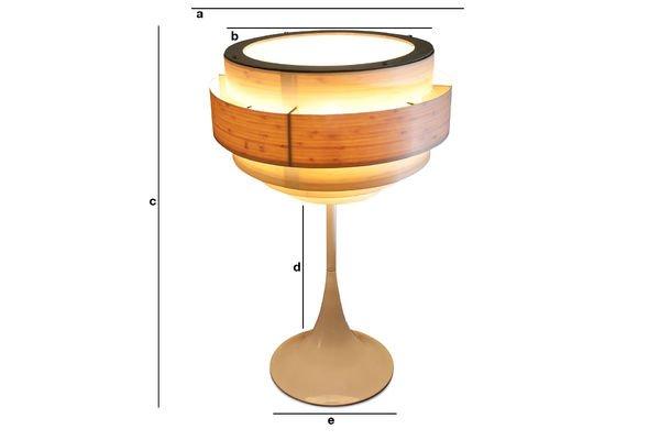 Dimensions du produit Lampe Boréale
