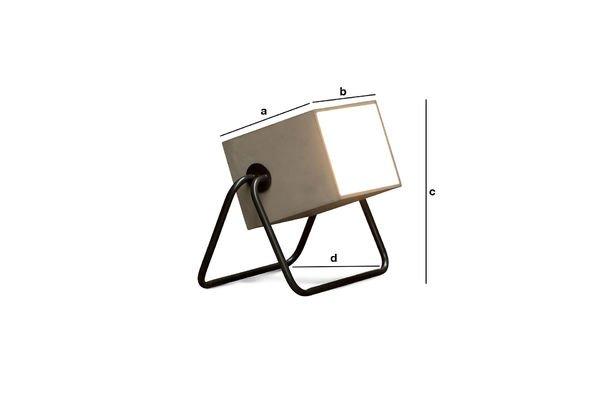 Dimensions du produit Lampe Concrete Box