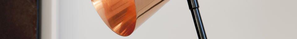 Mise en avant matière Lampe Copper Head