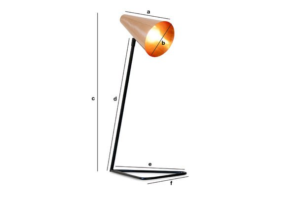 Dimensions du produit Lampe Copper Head