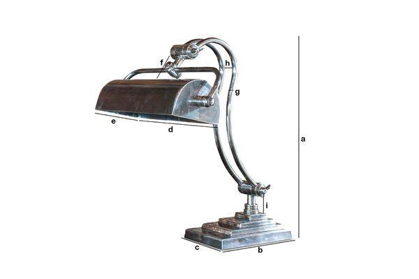 Dimensions du produit Lampe de bureau Hedges