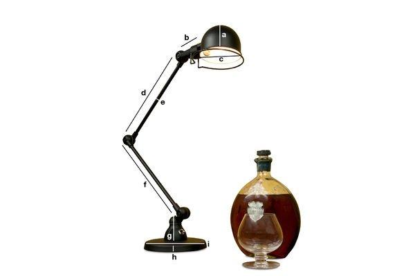 Dimensions du produit Lampe de bureau Jieldé Signal