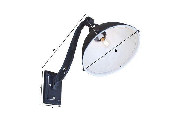 Dimensions du produit Lampe de façade d'entrepôt