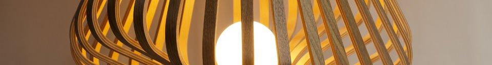 Mise en avant matière Lampe de salon Diva