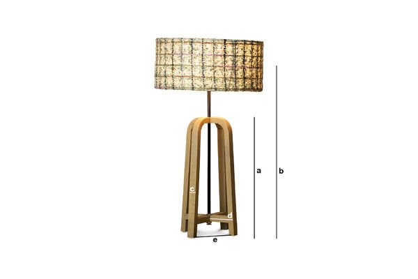 Dimensions du produit Lampe de table Andersen