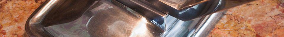 Mise en avant matière Lampe de table argentée