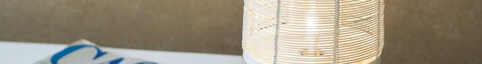 Mise en avant matière Lampe de table Cistella