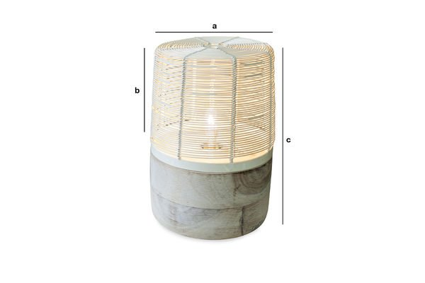 Dimensions du produit Lampe de table Cistella