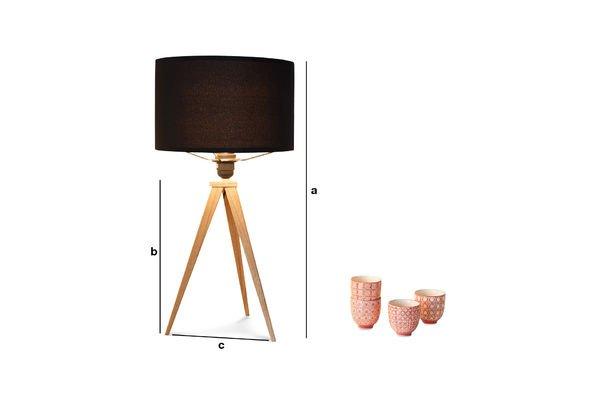 Dimensions du produit Lampe de table Kavinskï