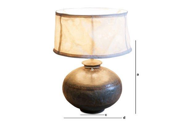 Dimensions du produit Lampe de table Nessos
