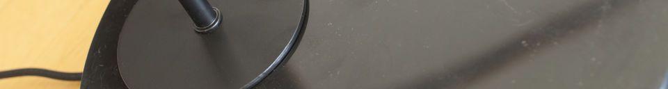 Mise en avant matière Lampe de table noire Mogens
