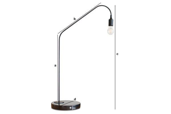 Dimensions du produit Lampe de table noire Mogens