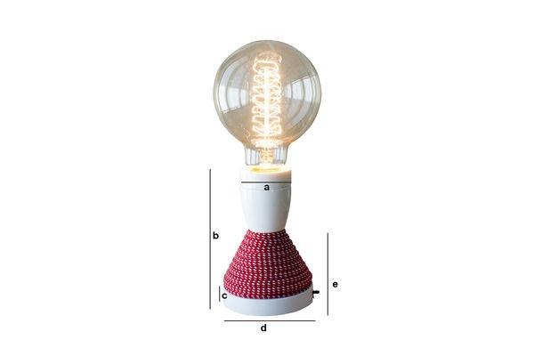 Dimensions du produit Lampe de table NUD